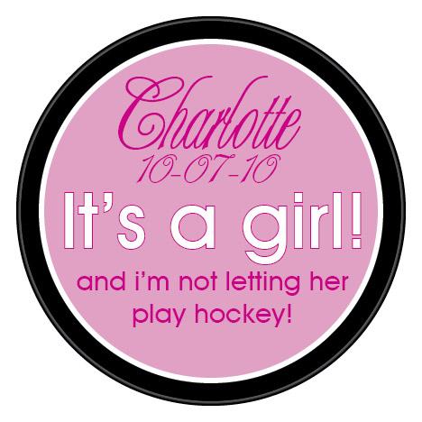 hockey baby announcement