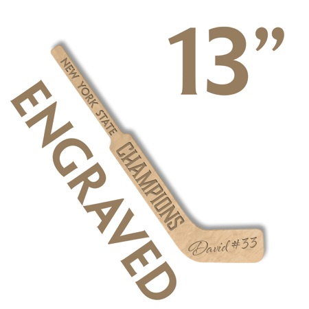 personalized small goalie stick party favor