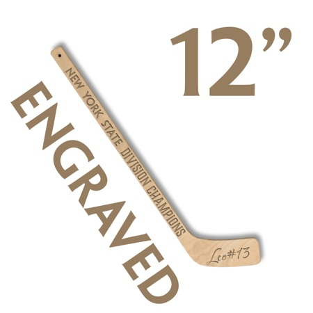 personalized small hockey stick engraved hockey party favor