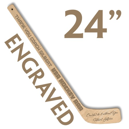 personalized small hockey stick laser engraved ministick