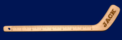 hockey stick ruler hockey stick
