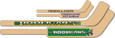 wood mini hockey sticks printed wood hockey sticks
