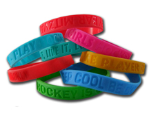 hockey wristbands hockey promotional wristbands