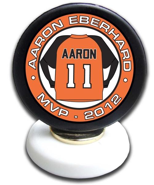 Hockey Puck Trophy Personalized Hockey Awards