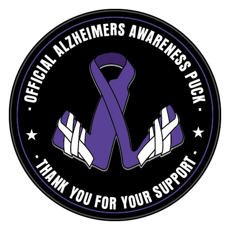 alzheimers awareness hockey puck alzheimers awareness hockey puck