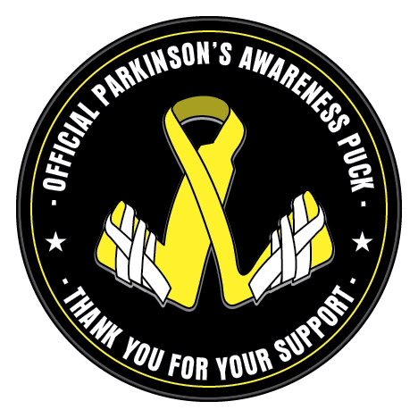 Parkinson's awareness hockey puck Parkinson's awareness hockey puck