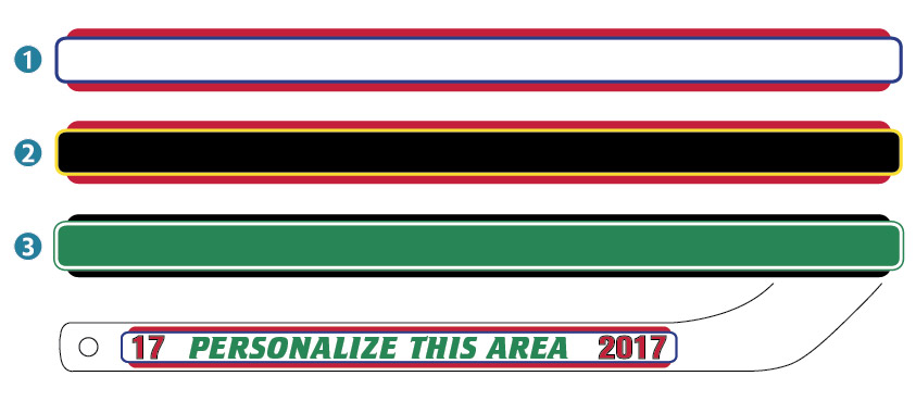 Nhl Colors Chicago Blackhawks Personalized Mini Hockey Stick