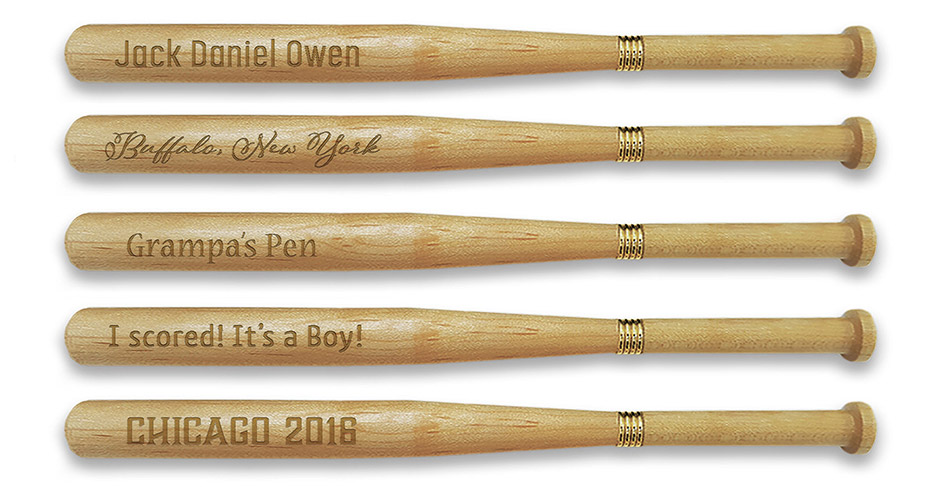 personlized baseball bat pen from ministicks.com