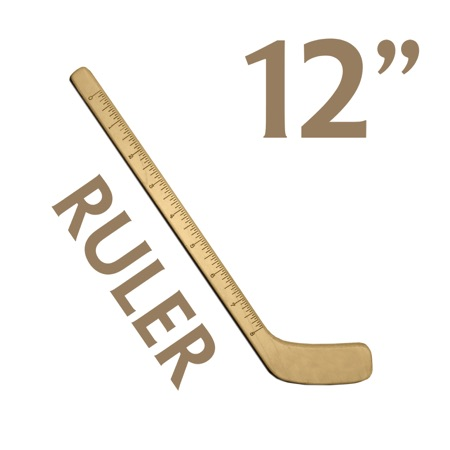 small hockey stick ruler wood hockey stick ruler