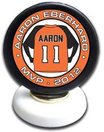 personalized pucks mounted pucks