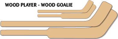 mini wood player stick mini wood goalie stick