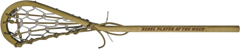 rebel player of the week personalized wooden lacrosse sticks