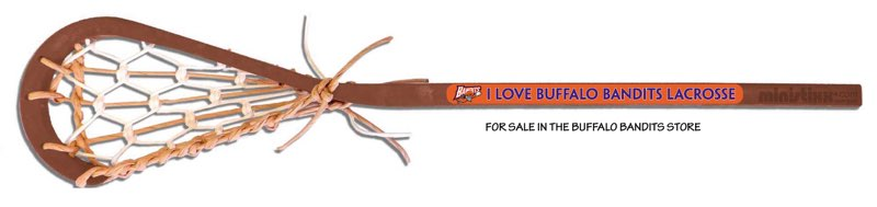 buffalo bandits lacrosse stick is available in the bandits store.